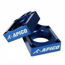 Apico REAR AXLE BLOCKS YAMAHA YZ125 YZ250 02-18 YZF250 01-08 YZF450 03-08 BLUE