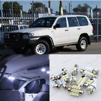 White LED Interior Light Package Kit For Toyota Landcruiser 100 series 1998-2007