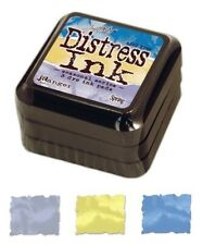 Set of 3 Tim Holtz Spring Distress Ink Pads/Peacock Feathers, Squeezed Lemonade*