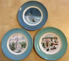 Lot Of 3 Christmas Plate Series Avon Collectors Plates 1973 1974 1976 Christmas