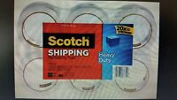 """SCOTCH SHIPPING & PACKING TAPE 3M 1.88"""" X 54.6 YD. HEAVY DUTY (BRAND NEW)-6 PACK"""