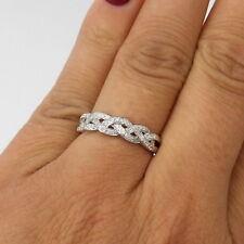 Wert 1300 € Brillant Ring geflochten (0,20 Carat) in 750er 18 K Weißgold Gr. 56