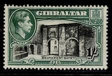 More details for gibraltar gvi sg127a, 1s black & green , m mint. cat £75. perf 13½