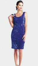 Womens Moshita Evening Size Small Blue Sequin Formal Dress~Homecoming~Prom~NEW