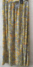 Atmosphere Primark Skirt Maxi Yellow Floral Double Side Split Holiday Size 10 38