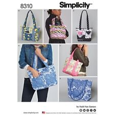 Simplicity Sewing Pattern 8310 Bags Quilted Bags in Three Sizes
