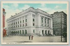Providence Rhode Island~Aerial View Of Post Office~1920s Postcard