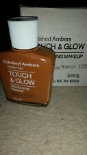 Revlon polished Ambers touch and glow moisturising makeup golden tan 3 pack
