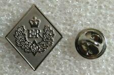 """Queen Elizabeth II Diamond Jubilee Lapel Pin - Silver Toned - Approx. 1"""" Tall"""