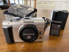 Olympus E-PL1 Camera Body, Silver, Excellent Condition