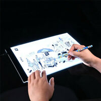 USB Graphic Tablet A4 LED Artist Thin Art Stencil Drawing Board Writing Pad
