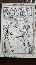 Conan The Barbarian 196 - Cover Art - Geof Isherwood - 1987 Comic Art