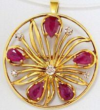 Nadel Brosche Mit Brillant Diamant Rubin Brillant In Aus Platin Rubinen Uhren & Schmuck
