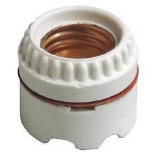 100 Pk Leviton White Porcelain Single Circuit Light Bulb Lamp Socket 0129350