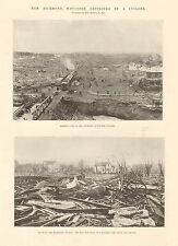 1899-ANTIQUE PRINT-USA-NEW RICHMOND-WISCONSIN DESTROYED BY A CYCLONE