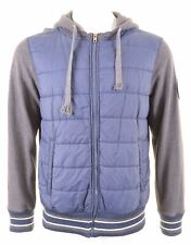 SCHOTT Mens Windbreaker Jacket Size 38 Medium Grey Cotton HZ12