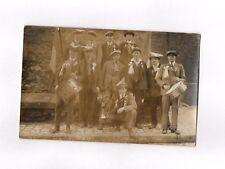 CPA Carte postale ancienne (groupe fanfare à définir)