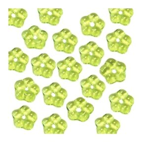 100 Olivine Green Czech Glass 5mm Forget Me Not Flower Daisy Disc Spacer Beads
