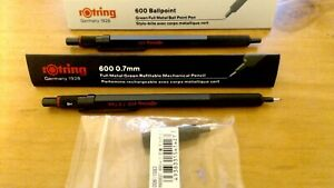 Rotring 600 mechanical pencil, 0.7 and ballpoint pen, green
