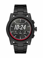 Michael Kors Access Grayson 47mm Stainless Steel Case with Deployment Buckle Smartwatch in Black-Tone - (MKT5029)