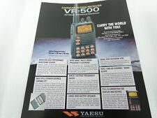 FOLLETO de Yaesu VR-500