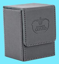ULTIMATE GUARD XENOSKIN FLIP DECK CASE Standard Size GREY 80+ MTG Card Box