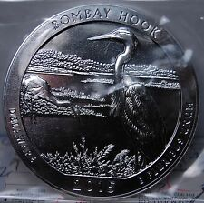"2015 5 OUNCE SILVER BULLION ""AMERICA THE BEAUTIFUL"" BOMBAY HOOK 5 OZ FINE SILVER"