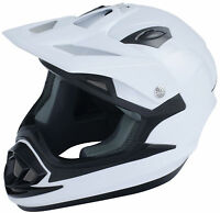 FULL FACE CRASH HELMET ADULT GLOSS WHITE  / RACE / LEISURE / TRACK ACU GOLD