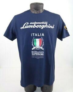 NEW GENUINE Lamborghini Mens Eccellenza Superiore Dark Navy T-Shirt S-L D1 LT49
