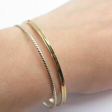 Vintage Bangle Bracelets Set in Gold Tone