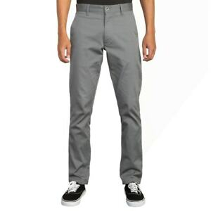 """RVCA """"The Week-End"""" Stretch Pants (Smoke) Men's Straight Fit Chino Pant"""