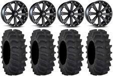 "MSA Black Kore 14"" UTV Wheels 29"" XM310 Tires Honda Pioneer 1000 / Talon"