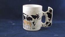 Vintage Cow & Calf Coffee Mug with Cow Handle