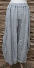 LAGENLOOK OVERSIZED LINEN BALLOON HAREM TROUSERS/PANTS***GREY*** XL-XXL