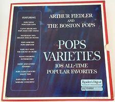 READERS DIGEST BOX SET ALBUMS - 10 LPS - POPS VARIETIES - BOSTON POPS