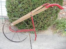ANTIQUE BLUE GRASS GARDEN PUSH PLOW     0827-8