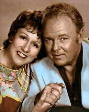 "JEAN STAPLETON CARROL O'CONNOR ALL in the FAMILY 8x10"" HAND COLOR TINTED PHOTO"
