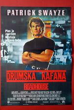ROADHOUSE PATRICK SWAYZE 1989 RARE EXYU MOVIE POSTER