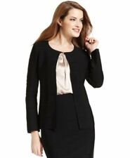 Calvin Klein Suits Cardigan Sz S Solid Black Banded Stretch Career Sweater