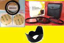 RING ADAPTER +FILTER KIT UV CPL FLD+LENS HOOD 58mm To FUJI FINEPIX SL1000 S8200