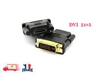 Adaptateur DVI-D mâle vers HDMI femelle 24+5 pins convertisseur DVI-D 1080P