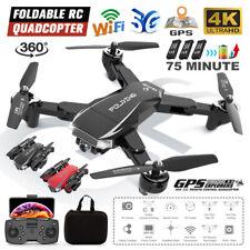 Faltbar WiFi Drohne 4K Kamera Quadrocopter GPS RC Drone Selfie FPV mit 3 Akkus