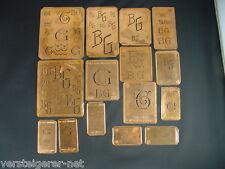 15 x BG Merkenthaler Monogramme, Kupfer Schablonen, Stencils, Patrons broder
