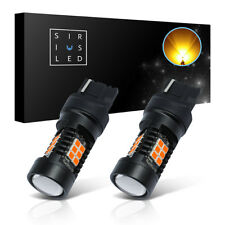 SiriusLED 2x LED 7443 Amber Front Rear Turn Signals 2835 SMD Chipset Light Bulbs