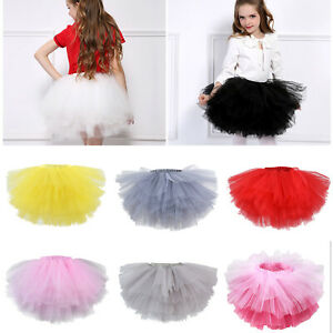 Kids Baby Girls Dance Tutu Tulle Skirt Petti Ballets Dress Fancy Party Costume