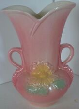 Vintage Hull Vase Flower Pottery Pink 95