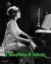 ELSIE FERGUSON 8X10 Lab Photo 1920s Silent Era Piano Elegant Actress Portrait