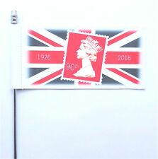 Queen Elizabeth II's 90th Birthday Postage Stamp Design Ultimate Table Flag