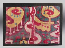 VINTAGE IKAT, UZBEK Silk Velvet Ikat Textile Fragment -  Free Shipping!