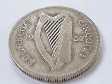 1937 Irish Florin coin 2s Eire 75% Silver (ref 5)